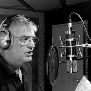 Martin bei der Gesangsaufnahme